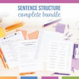 Sentence Structure Bundle: Simple, Compound, Complex, Compound-Complex Sentences