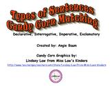 Types of Sentences Candy Corn Match up