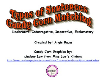 Types of Sentences Candy Corn Match up