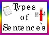 Types of Sentences (Center Activity)