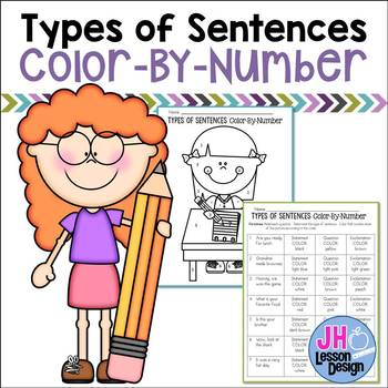Types of Sentences: Color-By-Number