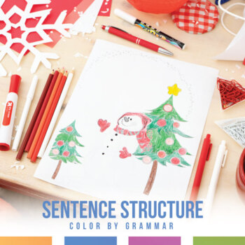 Types of Sentences Coloring Sheet - Winter