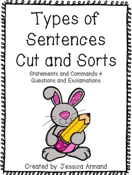 Types of Sentences Cut and Sort