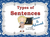 "Types of Sentences DISPLAY POSTERS ""Basic & Advanced Terms"""