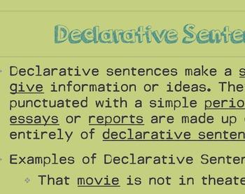 Types of Sentences: Declarative, Imperative, Exclamatory, Interrogative