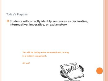 Types of Sentences: Declarative, Interrogative, Imperative, Exclamatory