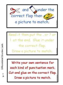 Types of Sentences:  Differentiated Activities