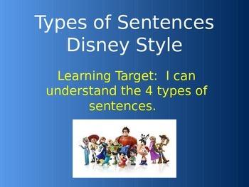 Types of Sentences Disney Style