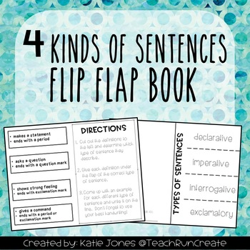 Types of Sentences Double-Sided Flip Book {EDITABLE}