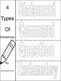 Types of Sentences Flip Book