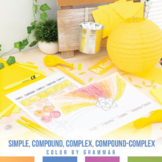 Color by Grammar: Simple, Compound, Complex, Compound Complex Sentences