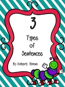 Types of Sentences Foldable FREEBIE