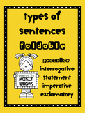 Types of Sentences Foldable; Printable