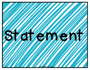 Types of Sentences Four Corners - Statements, Commands, Questions, Exclamations