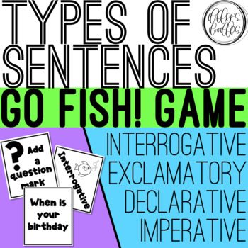 Types of Sentences Game: Go Fish!