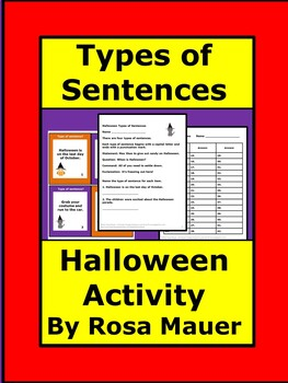 Types of Sentences Halloween