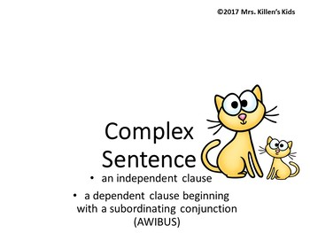 Mentor Sentence Companions: Simple, Compound, and Complex Sentences