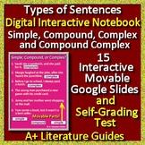 Google Slides Interactive Notebook - Types of Sentences for Google Classroom
