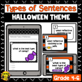 Halloween Types of Sentences Interactive Notebook Lesson a