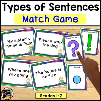 Types of Sentences & Punctuation: MATCH GAME