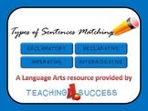 Types of Sentences Matching Game