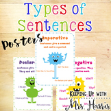 Types of Sentences Monster Posters
