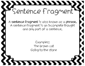 Types of Sentences Poster Pack