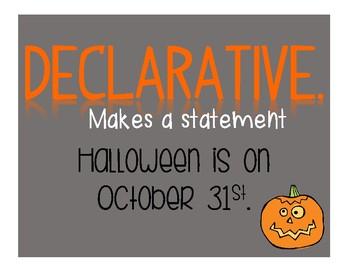 Halloween Themed Sentences - Poster Set!