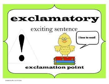 Types of Sentences Posters - Bird Theme