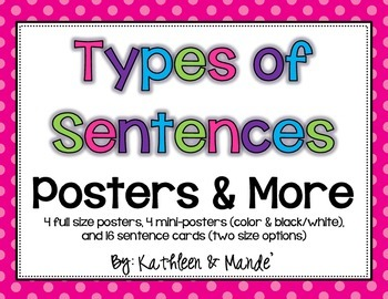 Types of Sentences: Posters & Sentence Cards