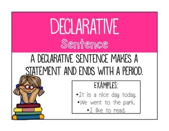Types of Sentences Posters and Centers