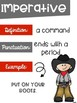 Types of Sentences Posters with a Cowboy Cowgirl Theme