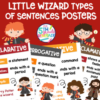 Types of Sentences Posters with a *Harry Potter* Wizard Theme