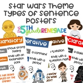 Types of Sentences Posters with a Star Wars Theme
