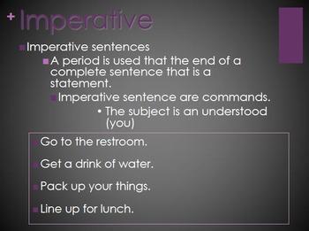 Types of Sentences PowerPoint