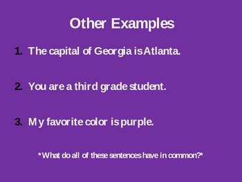Types of Sentences PowerPoint: 2nd-5th Grades