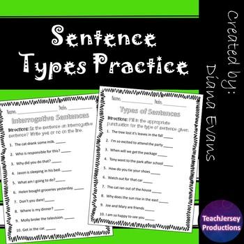 Sentences Types Practice