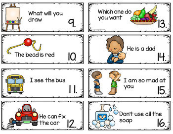 Types of Sentences Activities and Centers