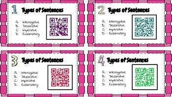 Types of Sentences QR codes