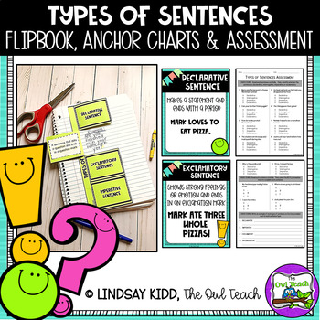 Types of Sentences Quiz by The Owl Teach | Teachers Pay Teachers