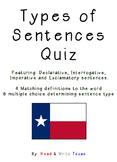 Types of Sentences Quiz