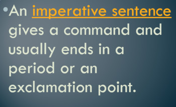 Types of Sentences Review