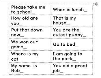 Types of Sentences & Punctuation: SENTENCE SORT