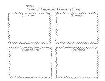 Types of Sentences Scavenger Hunt!