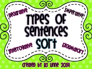 Types of Sentences Sort