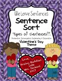 Types of Sentences Sort - Valentine's Day Themed