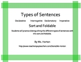 Types of Sentences: Sort and Foldable