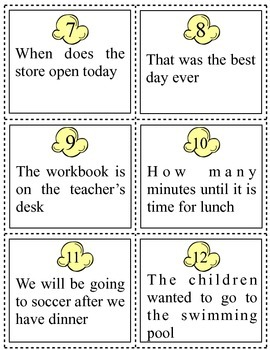 Types of Sentences Sort and Foldable
