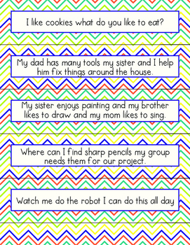 Types of Sentences Sort or Scoot