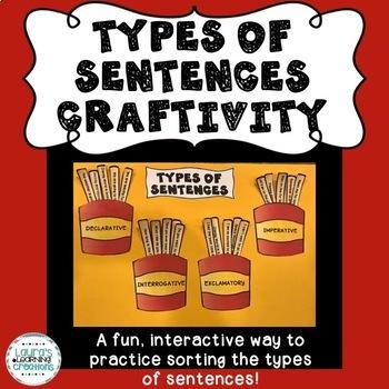 Types of Sentences Sorting Activity/Craftivity